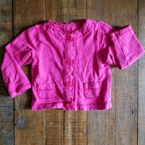 Pink toddler cardigan
